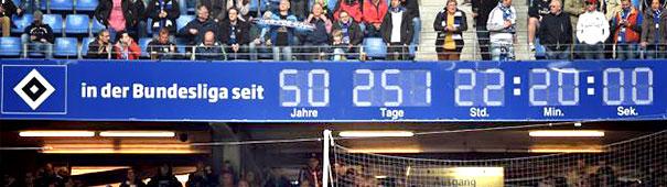 HSV Bundesliga-Uhr