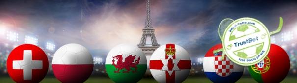 Fußball-EM 2016 Achtelfinale - Schweiz vs. Polen, Wales vs. Nordirland, Kroatien vs. Portugal