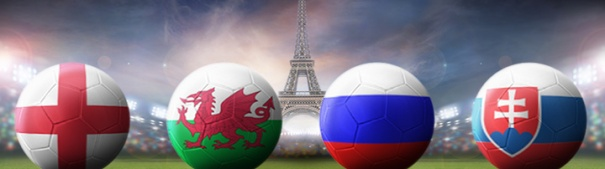 Fußball-EM 2016 Gruppe B - England, Wales, Russland, Slowakei