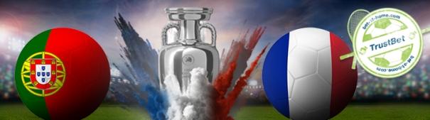 Fußball-EM 2016 - Portugal vs. Frankreich TrustBet