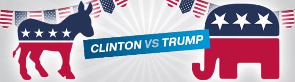 Hillary Clinton vs Donald Trump - US Wahl