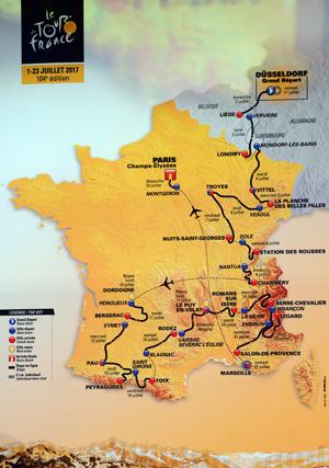 Route Tour de France 2017